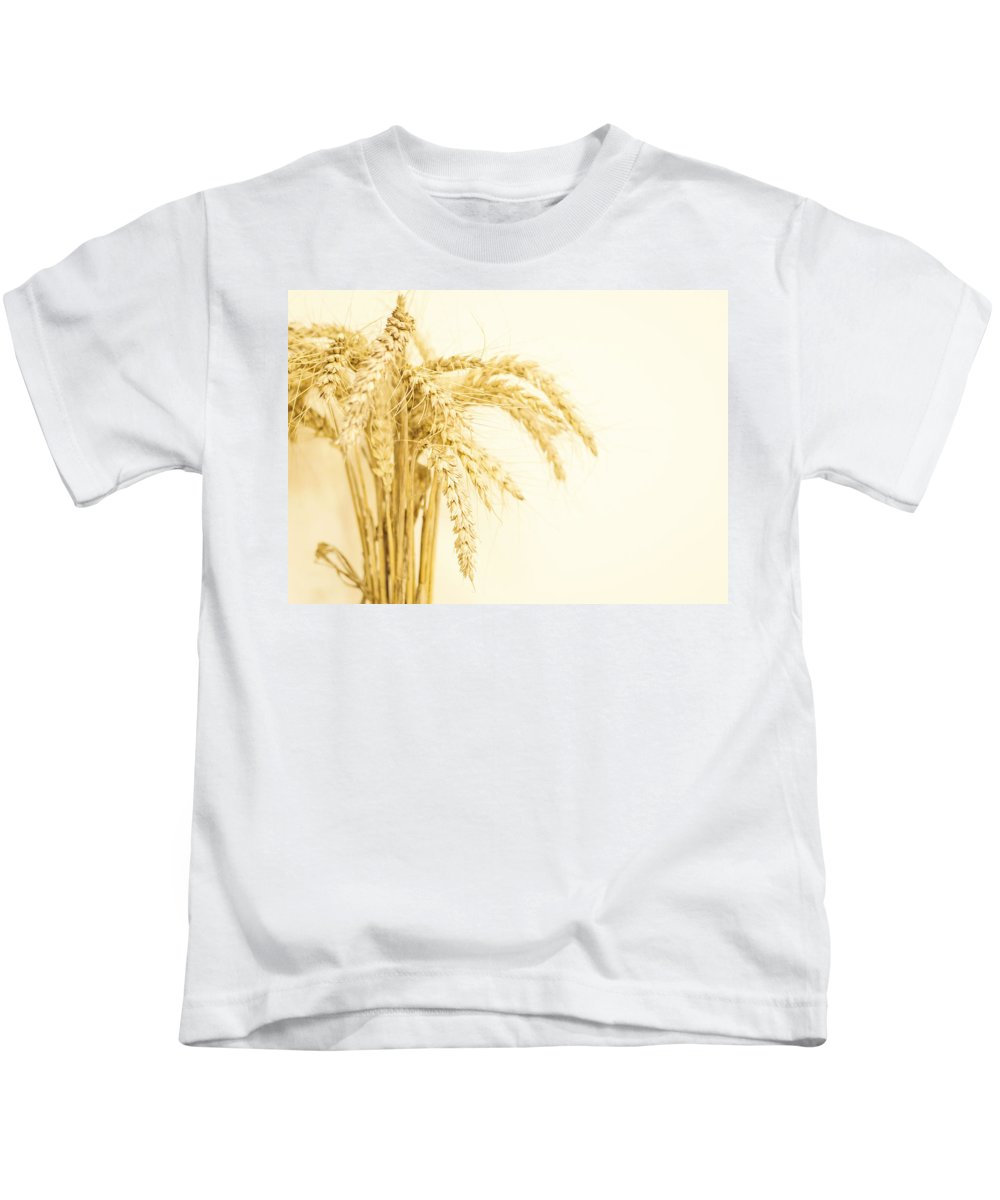 Wheat Kids T-Shirt featuring the photograph Staple Crop by Heather Applegate