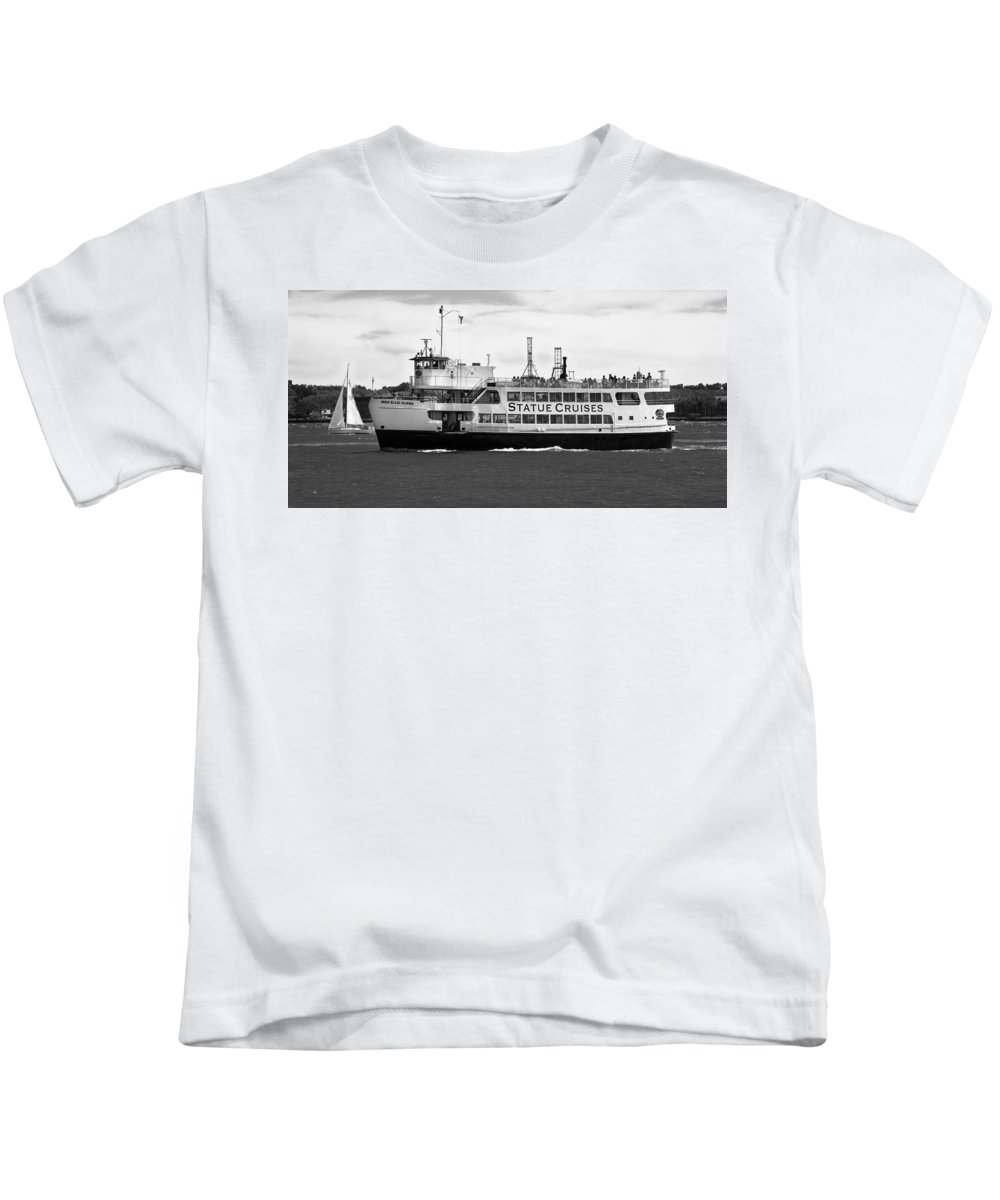 Statue Of Liberty Cruise Kids T-Shirt featuring the photograph Statue Cruise by Jatinkumar Thakkar