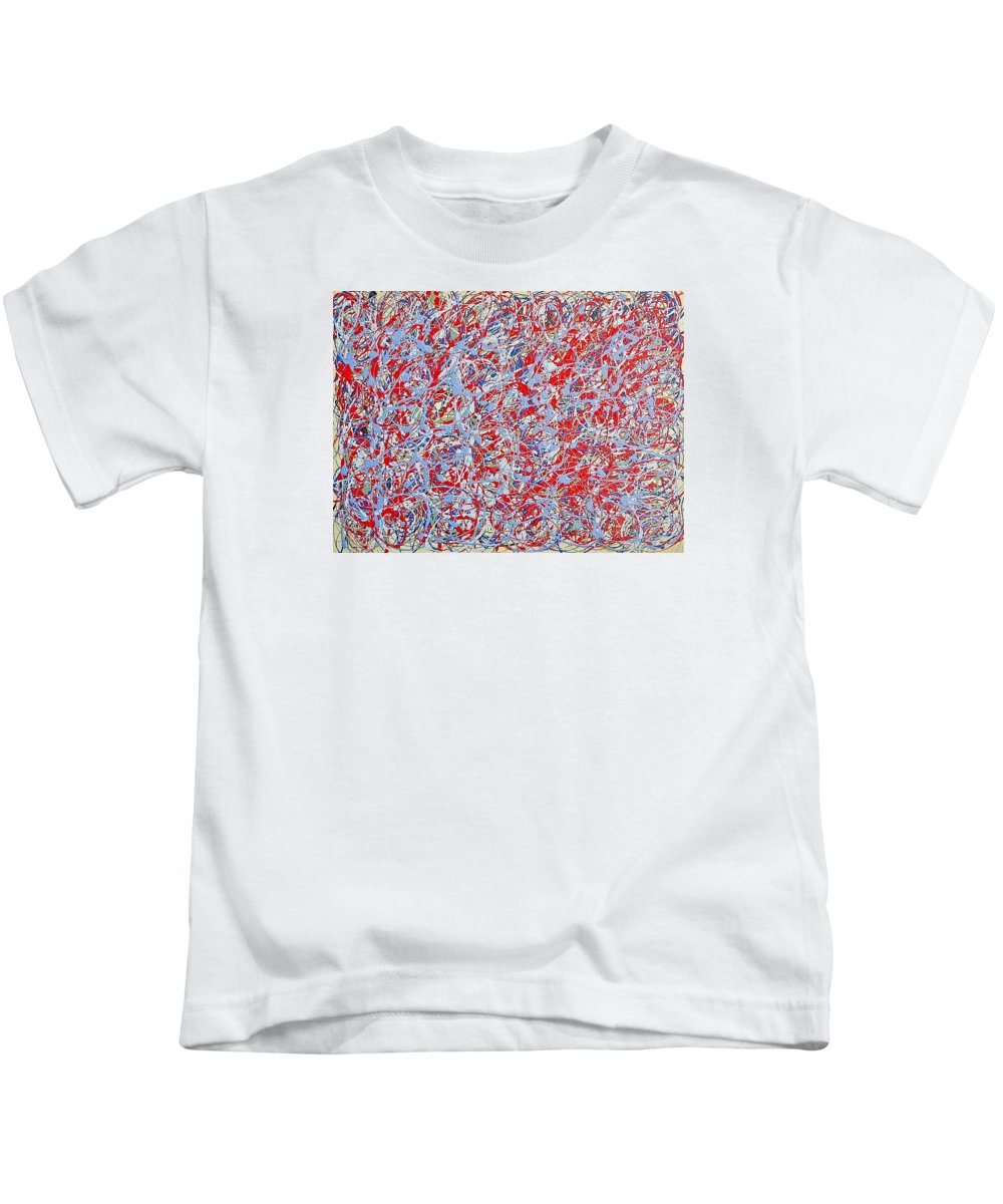 Steve Jobs Movie Kids T-Shirt featuring the painting Steve Jobs Movie by Greg Herzog