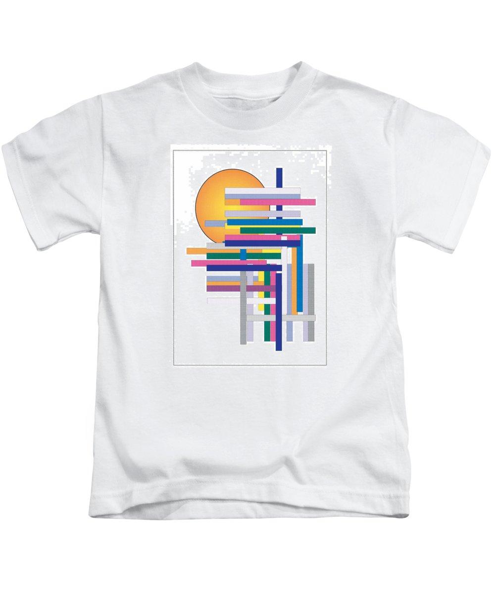 Contemporary Kids T-Shirt featuring the digital art Sun City by Bjorn Sjogren