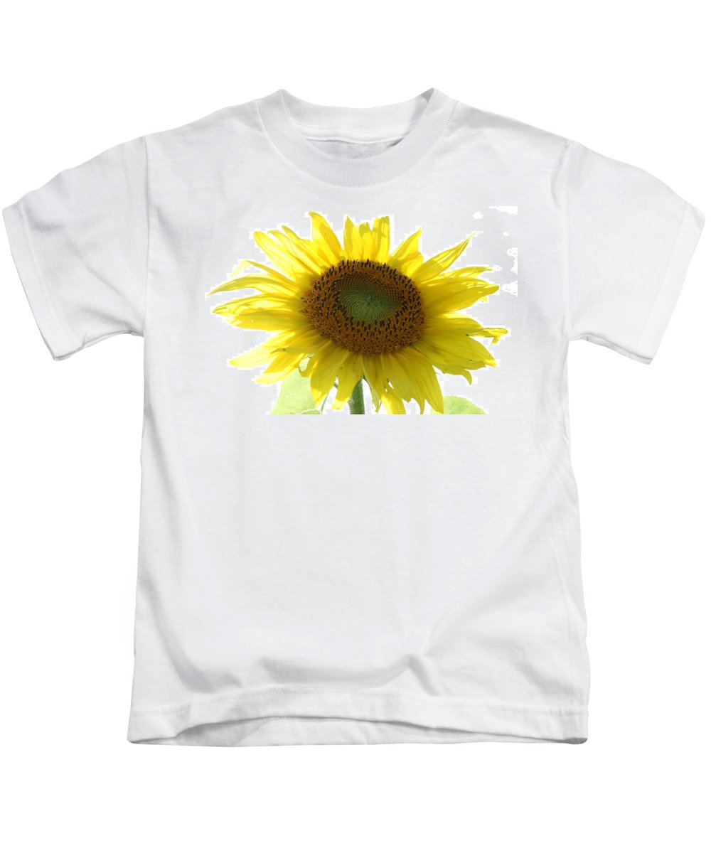 Sunflower Kids T-Shirt featuring the photograph Sunflower In Light by Neal Eslinger
