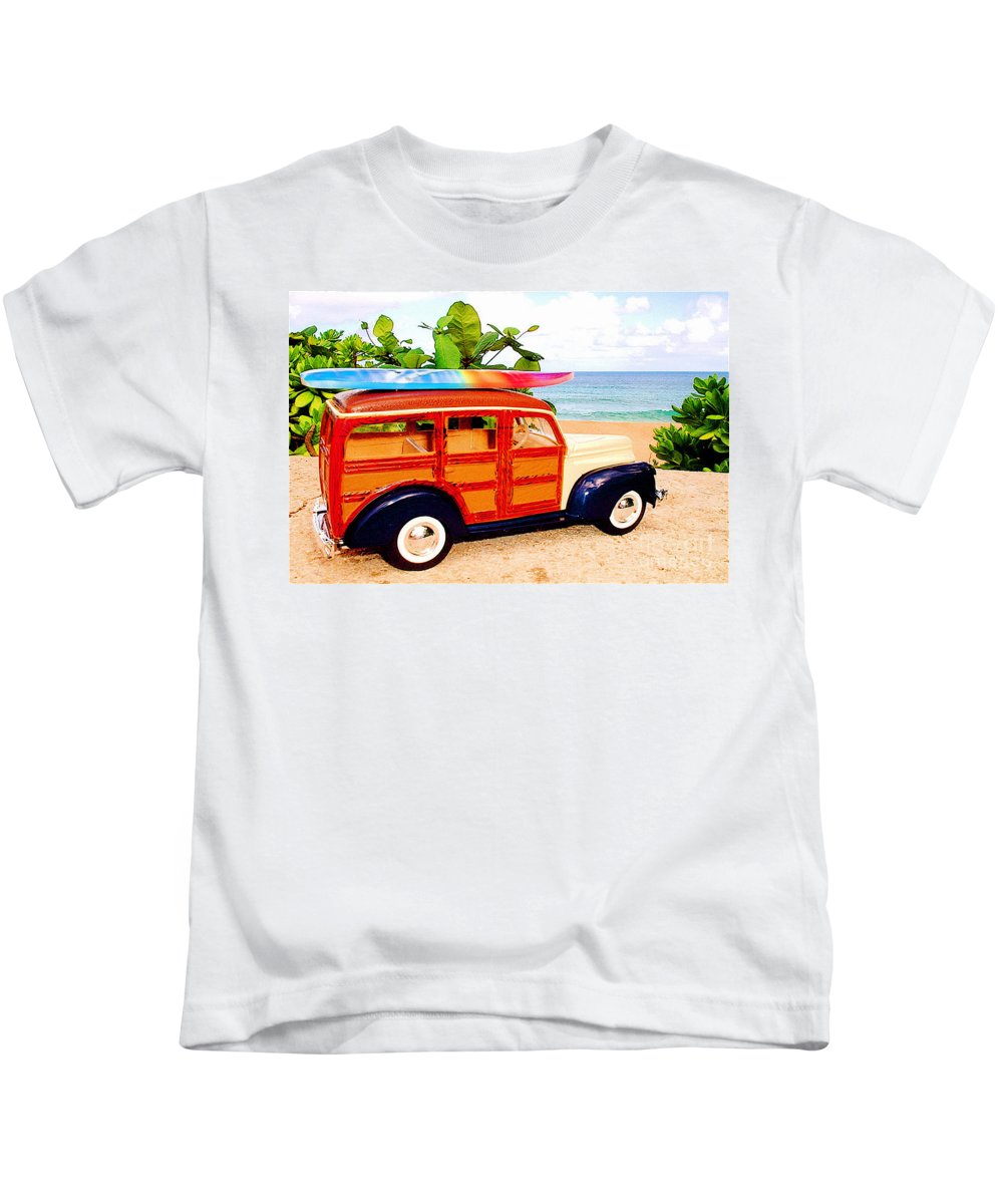 Surf Kids T-Shirt featuring the photograph Surf's Up by Jerome Stumphauzer