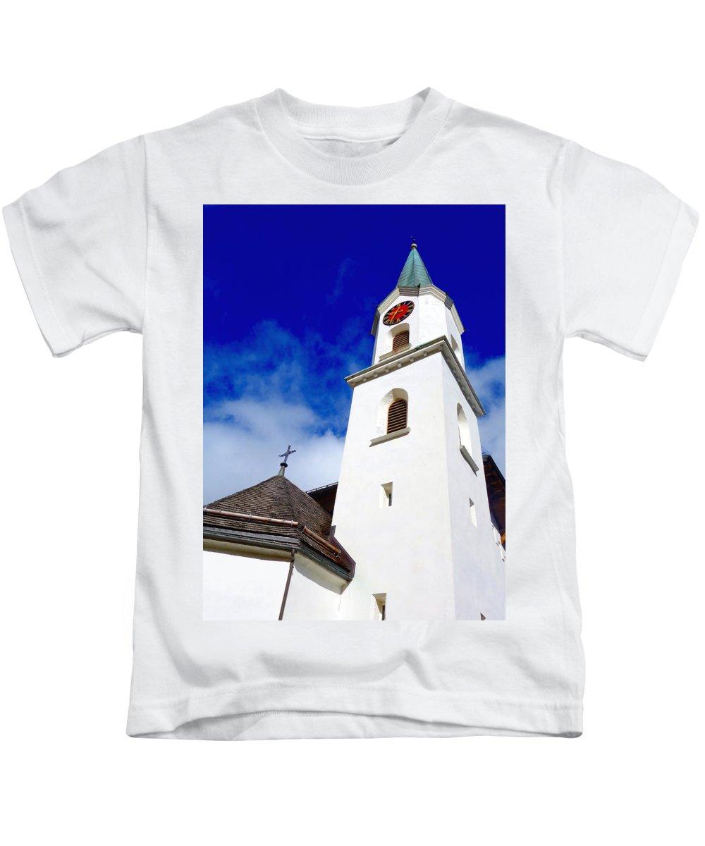 Swiss Kids T-Shirt featuring the photograph Swiss Church by Valentino Visentini