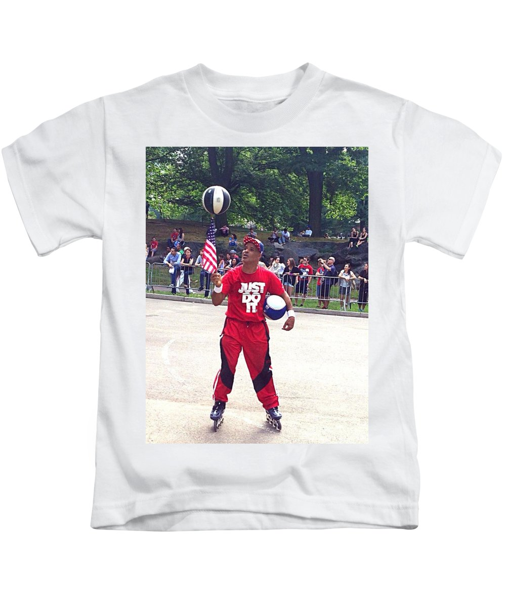 Talent Kids T-Shirt featuring the photograph Talented Skater by Christy Gendalia