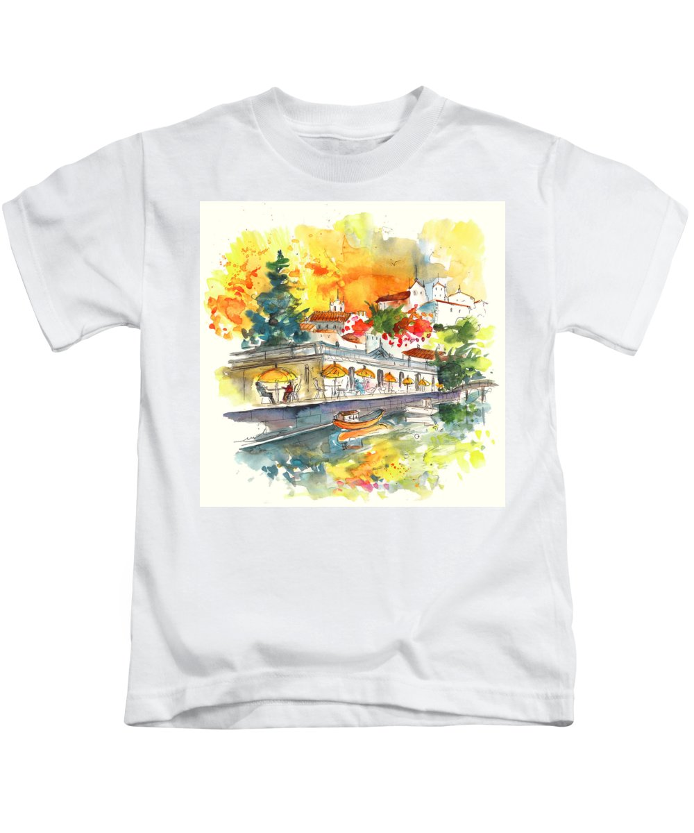Travel Kids T-Shirt featuring the painting Tavira 03 by Miki De Goodaboom