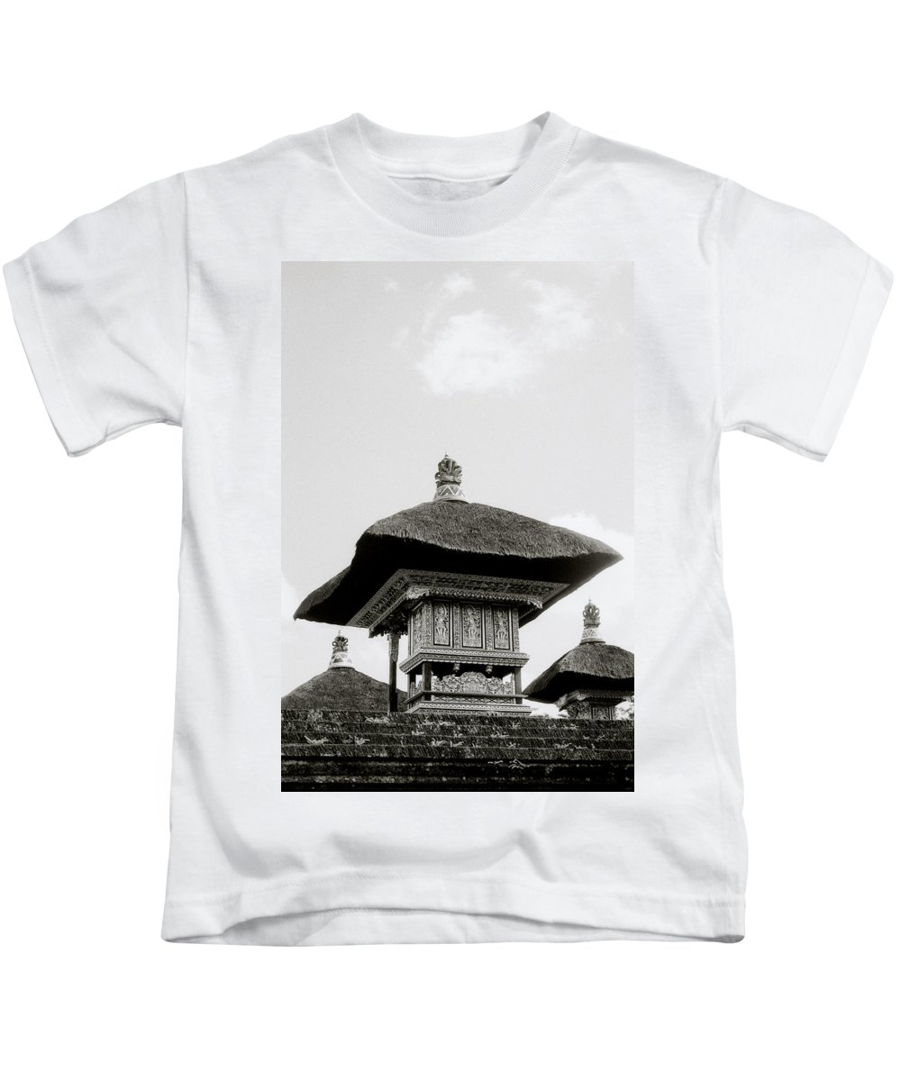 Bali Kids T-Shirt featuring the photograph Temple In Ubud by Shaun Higson