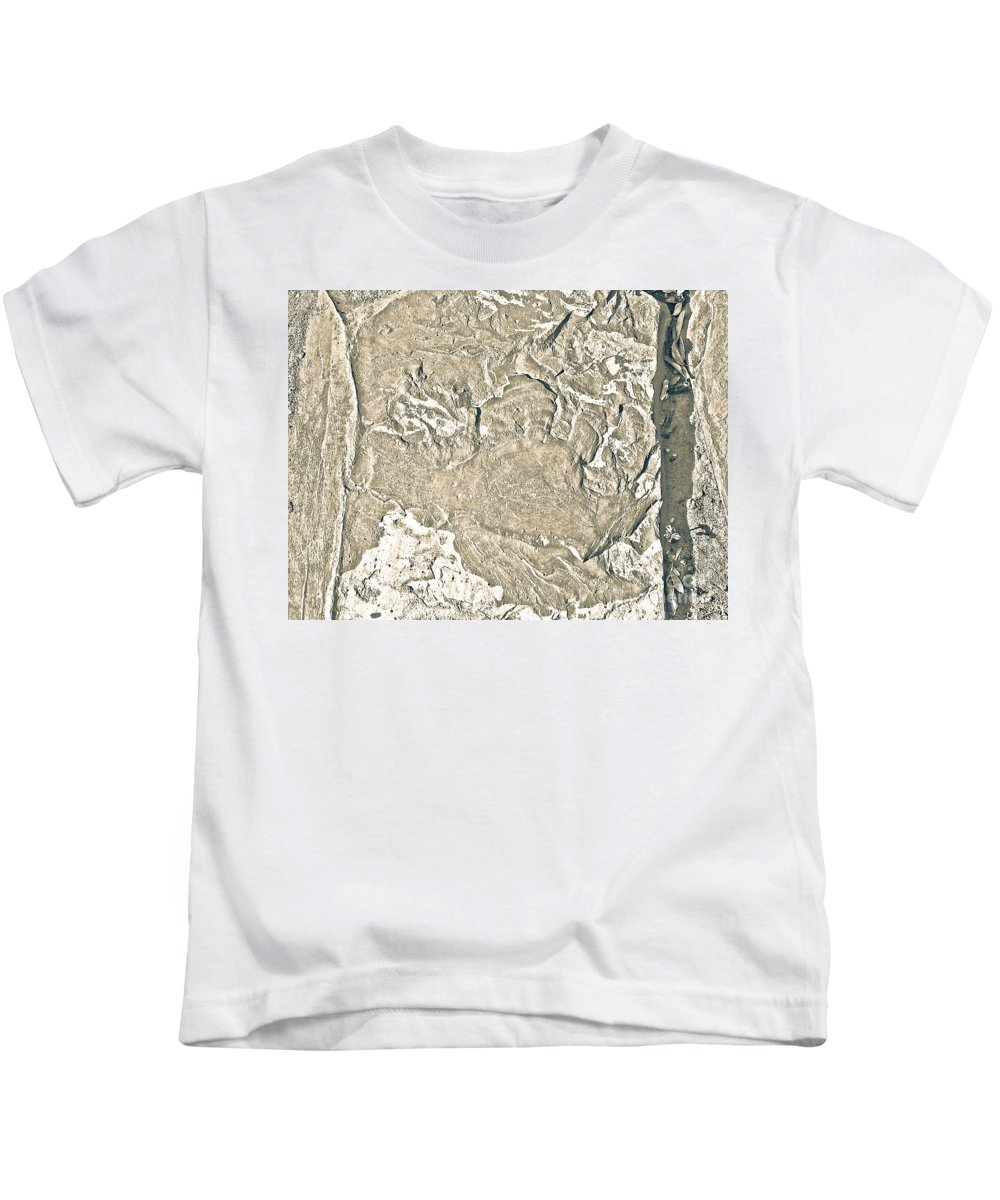 Abstract Kids T-Shirt featuring the photograph Texture No.2 Effect 2 by Fei A