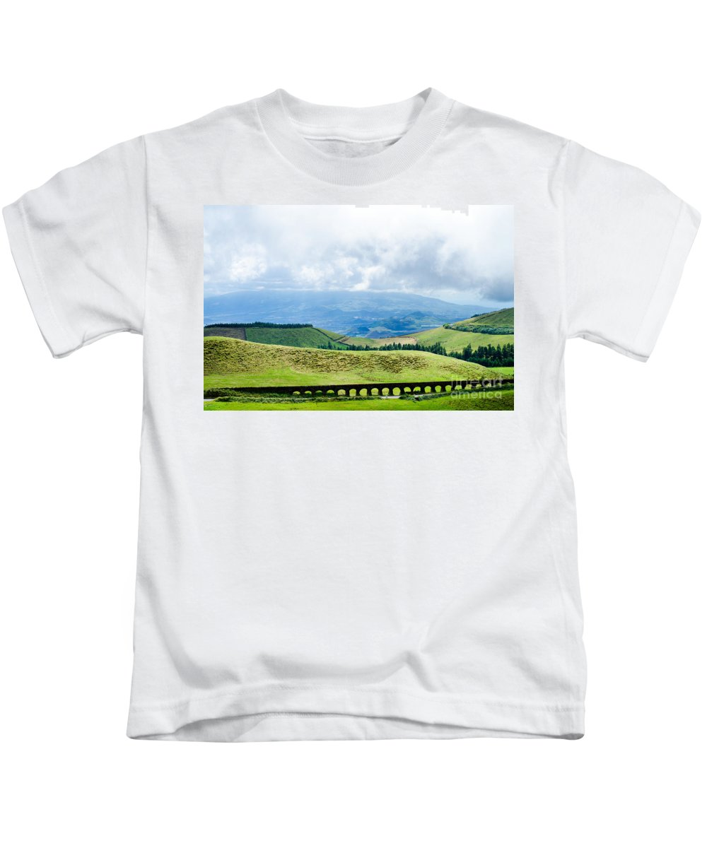 Aqueduct Kids T-Shirt featuring the photograph The Aqueduct by Marco Andrade