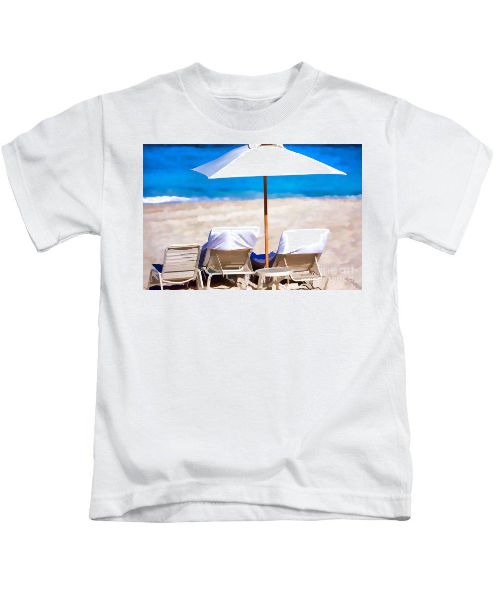 Beach Kids T-Shirt featuring the photograph The Beach by Carolina Mendez