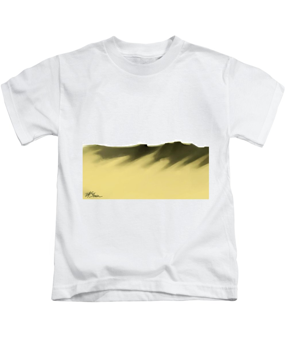Fineartamerica.com Kids T-Shirt featuring the painting The Cliffs  Number 2 by Diane Strain