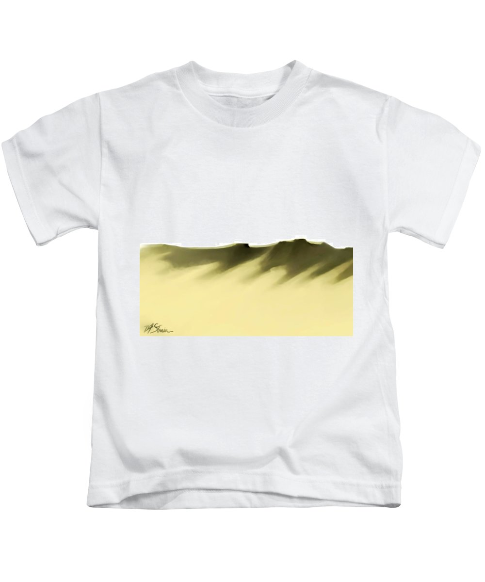 Kids T-Shirt featuring the painting The Cliffs  Number 3 by Diane Strain