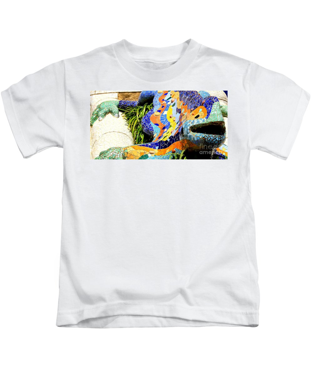 Park Gruell Kids T-Shirt featuring the photograph The Dragon by Kris Hiemstra