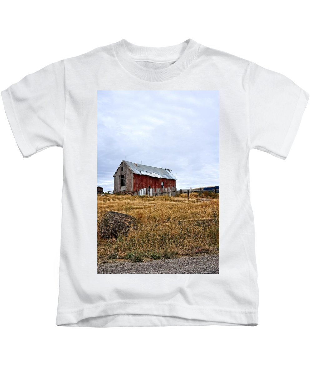 Barn Kids T-Shirt featuring the photograph The Farm by Image Takers Photography LLC