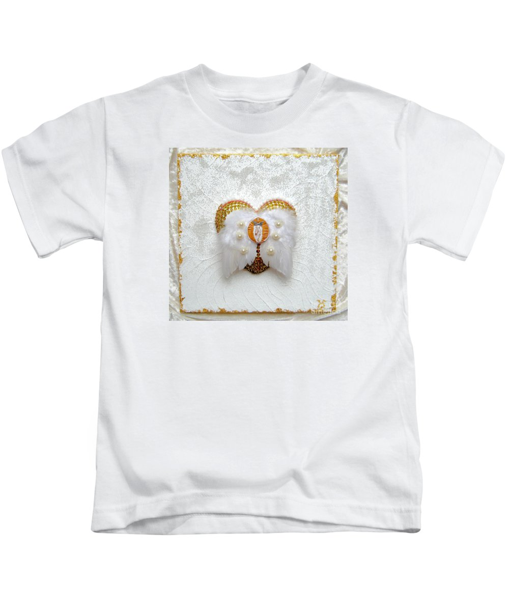 The Goddess Of The Golden Temple Kids T-Shirt featuring the relief The Goddess Of The Golden Temple by Heidi Sieber