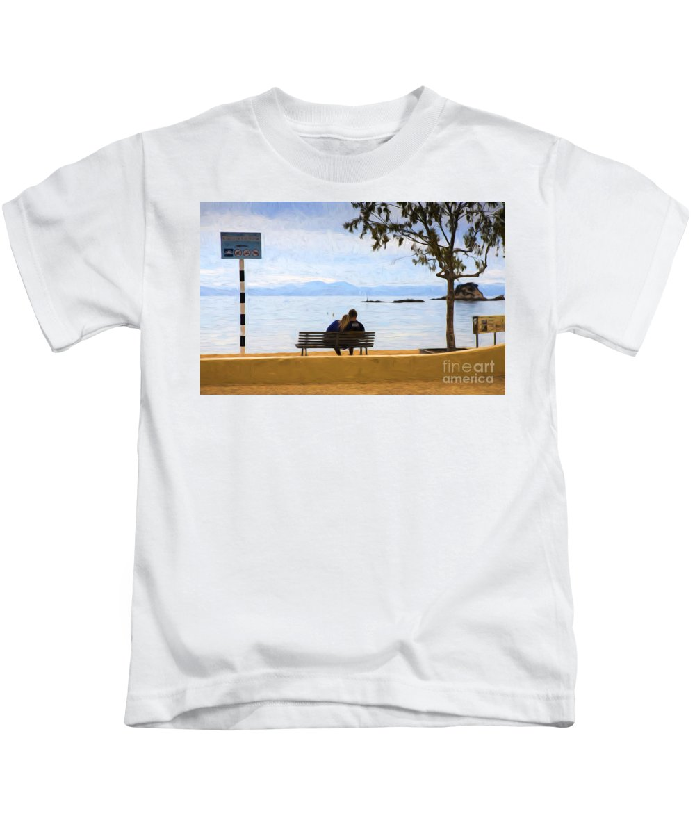 Lovers Kids T-Shirt featuring the photograph The Lovers by Sheila Smart Fine Art Photography