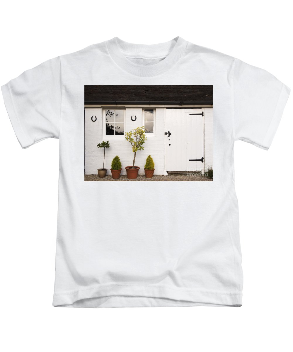 Shed Kids T-Shirt featuring the photograph The Old Shed by Louise Heusinkveld