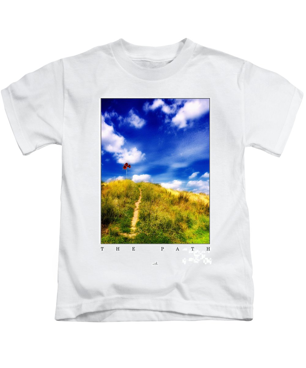 Away Kids T-Shirt featuring the photograph The Path by ARTSHOT - Photographic Art