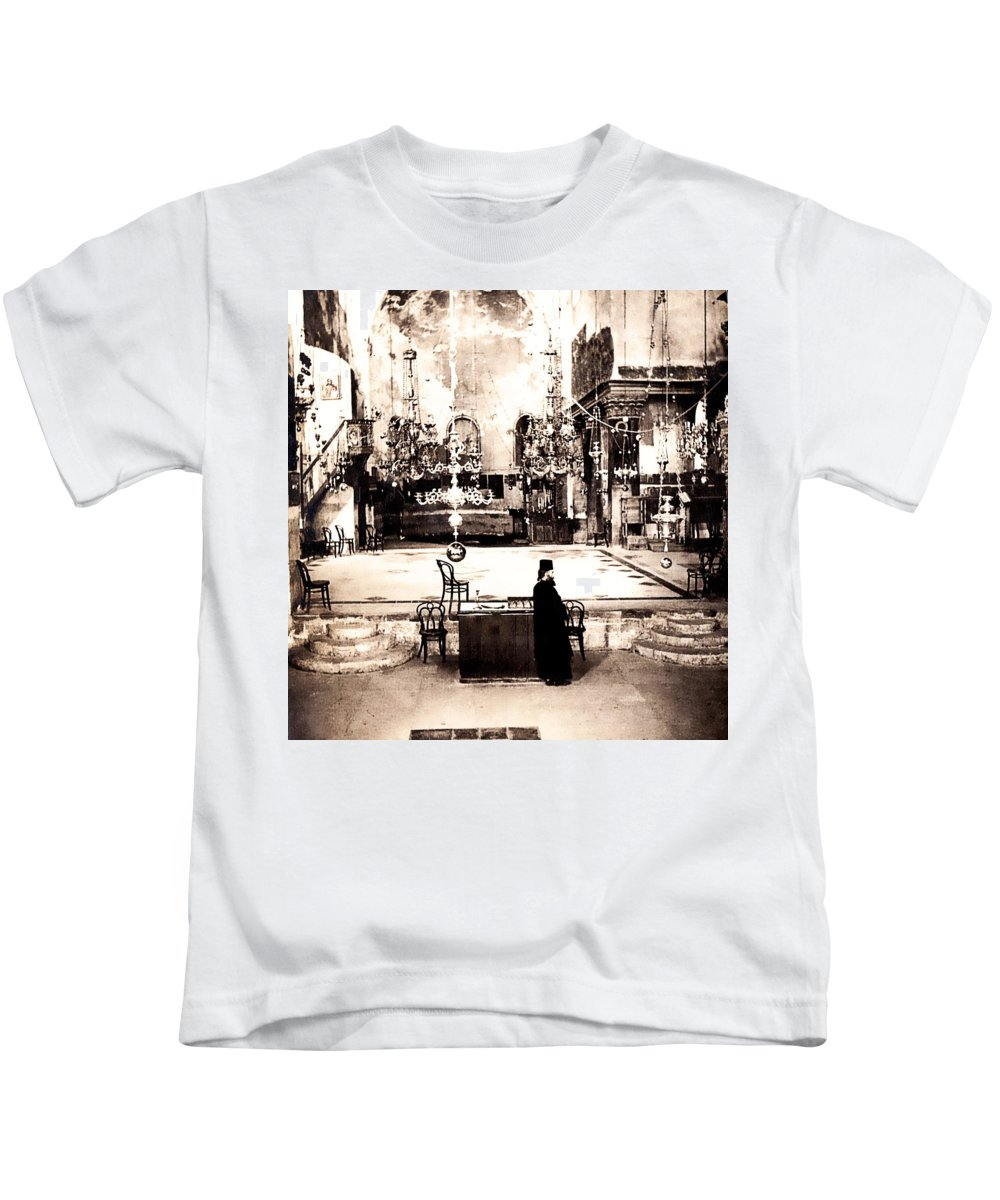 Vintage Kids T-Shirt featuring the photograph The Priest by Image Takers Photography LLC