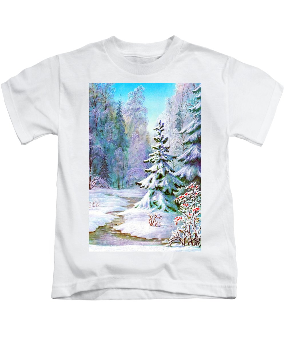 Old Russian Kids T-Shirt featuring the photograph The River by Munir Alawi
