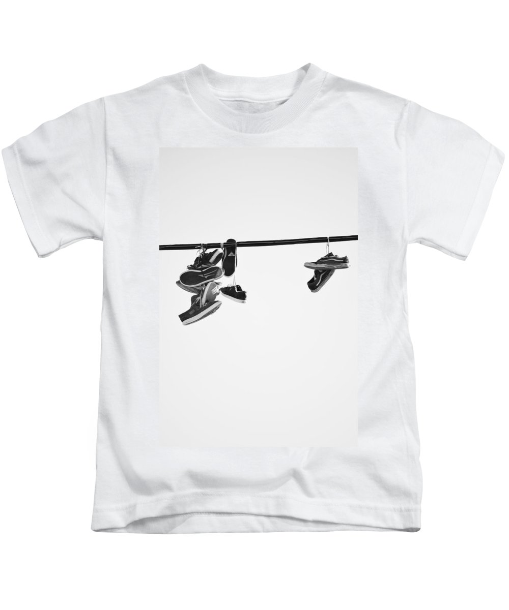 Street Photography Kids T-Shirt featuring the photograph These Steps Lasted by The Artist Project