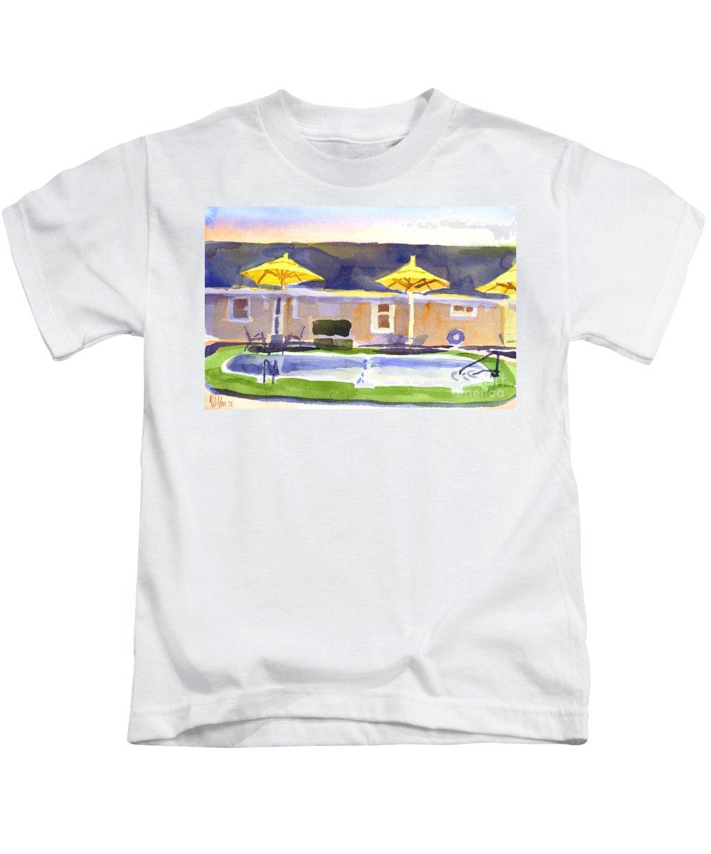 Three Amigos Iii Kids T-Shirt featuring the painting Three Amigos IIi by Kip DeVore