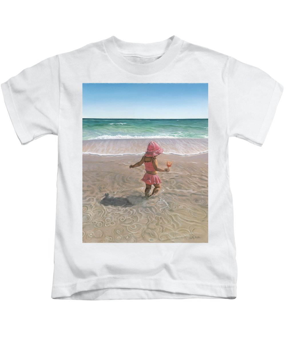 Realism Kids T-Shirt featuring the Tide Pool by Holly Kallie