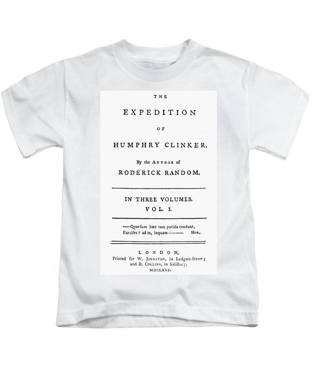 1771 Kids T-Shirt featuring the photograph Tobias Smollett Title Page by Granger