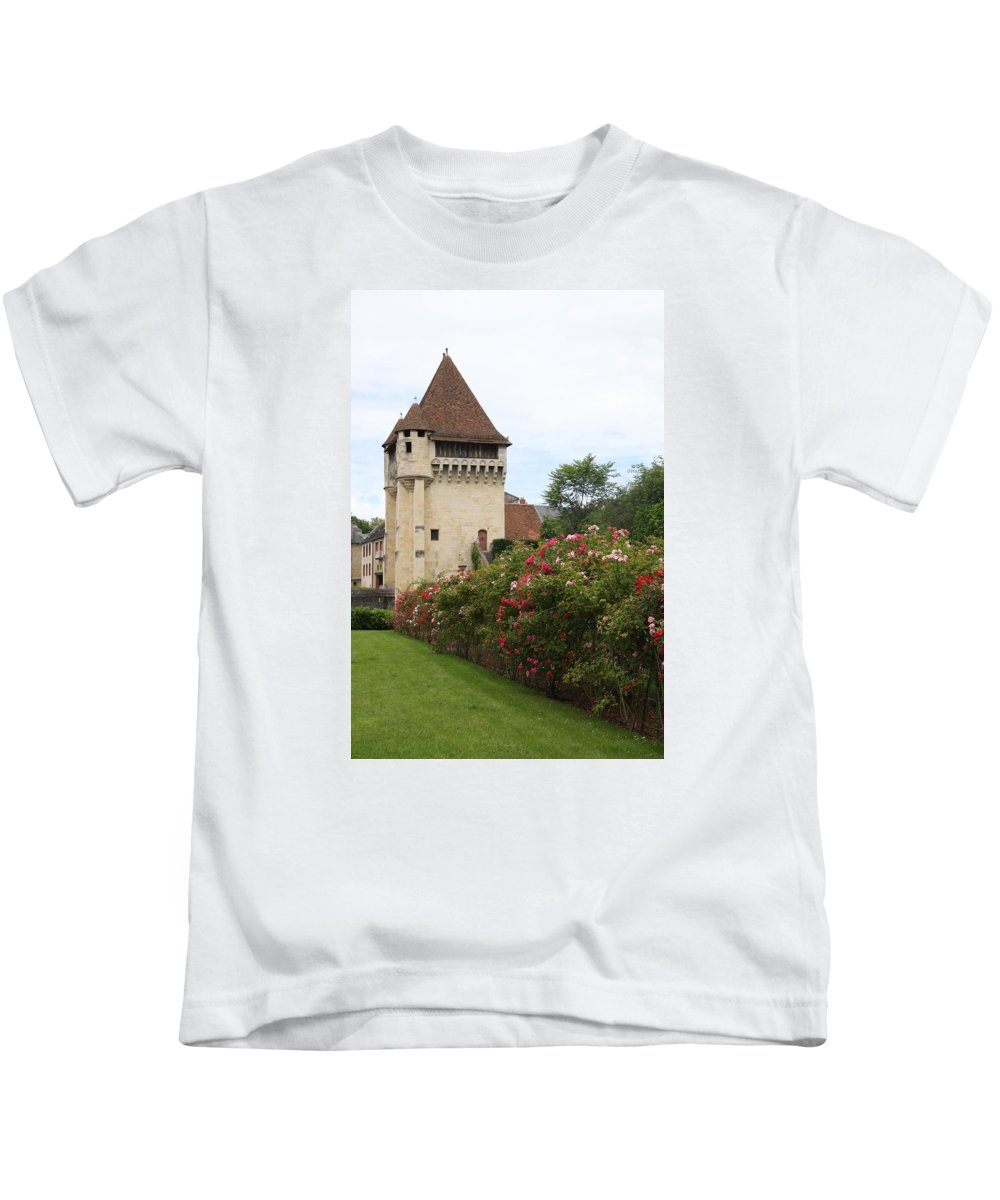 Town Gate Kids T-Shirt featuring the photograph Town Gate - Nevers by Christiane Schulze Art And Photography