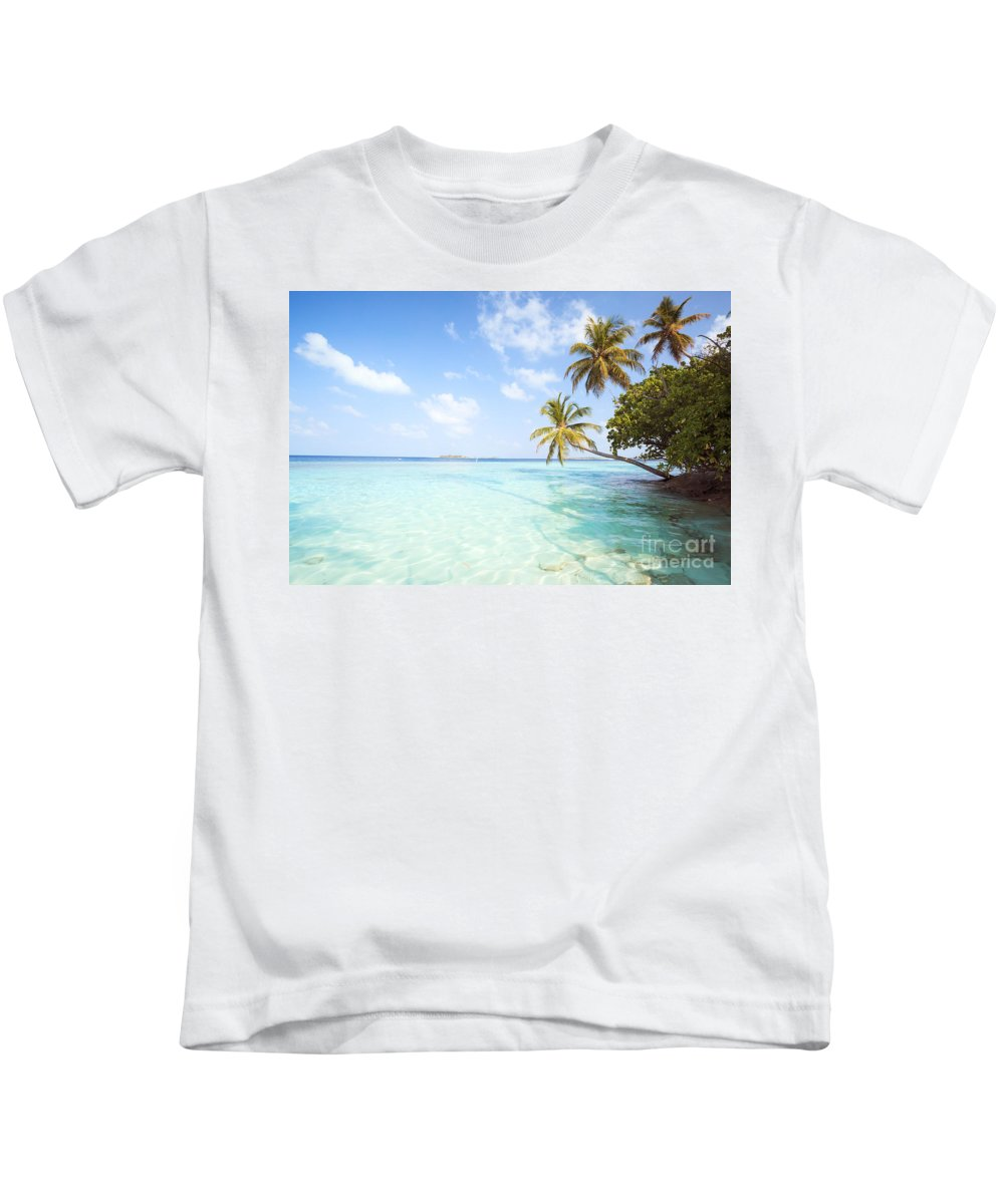 Tropical Kids T-Shirt featuring the photograph Tropical Sea In The Maldives - Indian Ocean by Matteo Colombo