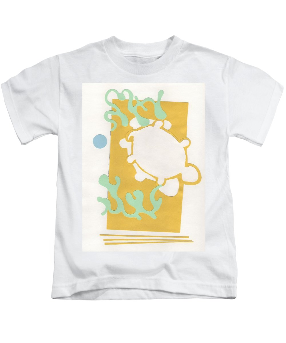 Turtle Kids T-Shirt featuring the drawing Turtle Pond by Catherine Helmick