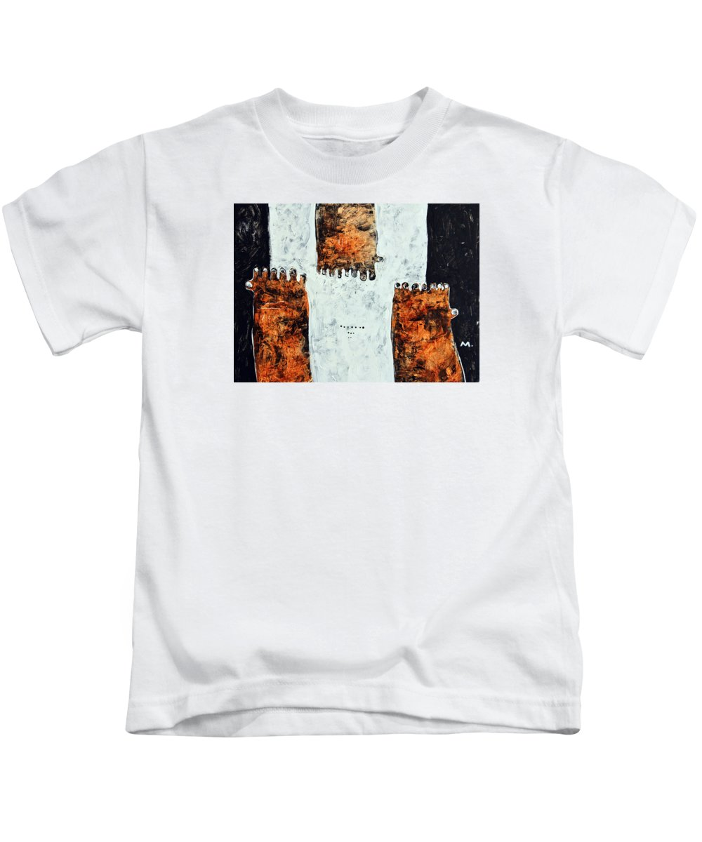 Acrylic Kids T-Shirt featuring the painting Universi No. 1 by Mark M Mellon