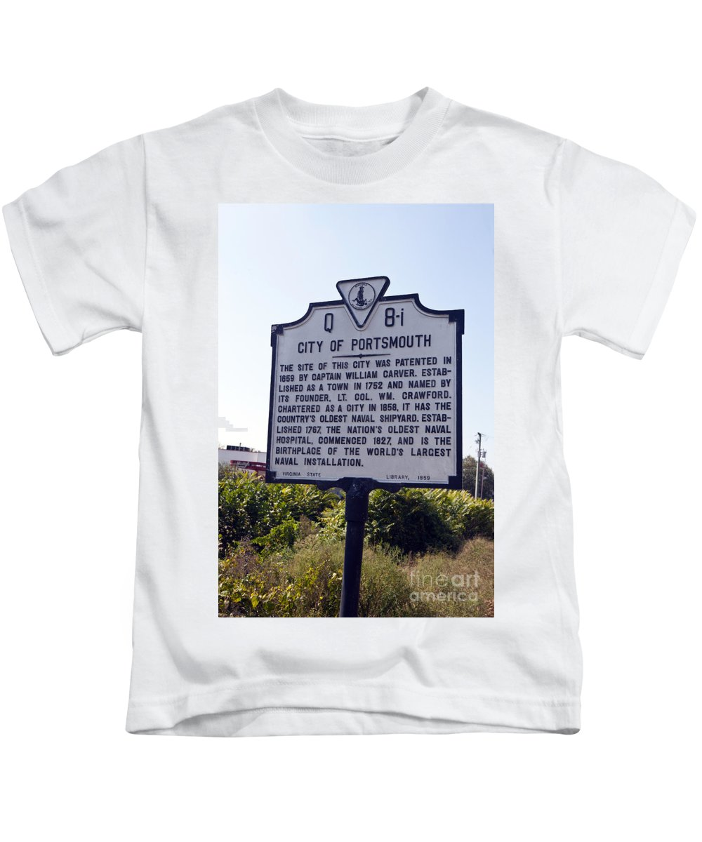 City Of Portsmouth Kids T-Shirt featuring the photograph Va-q8i City Of Portsmouth by Jason O Watson