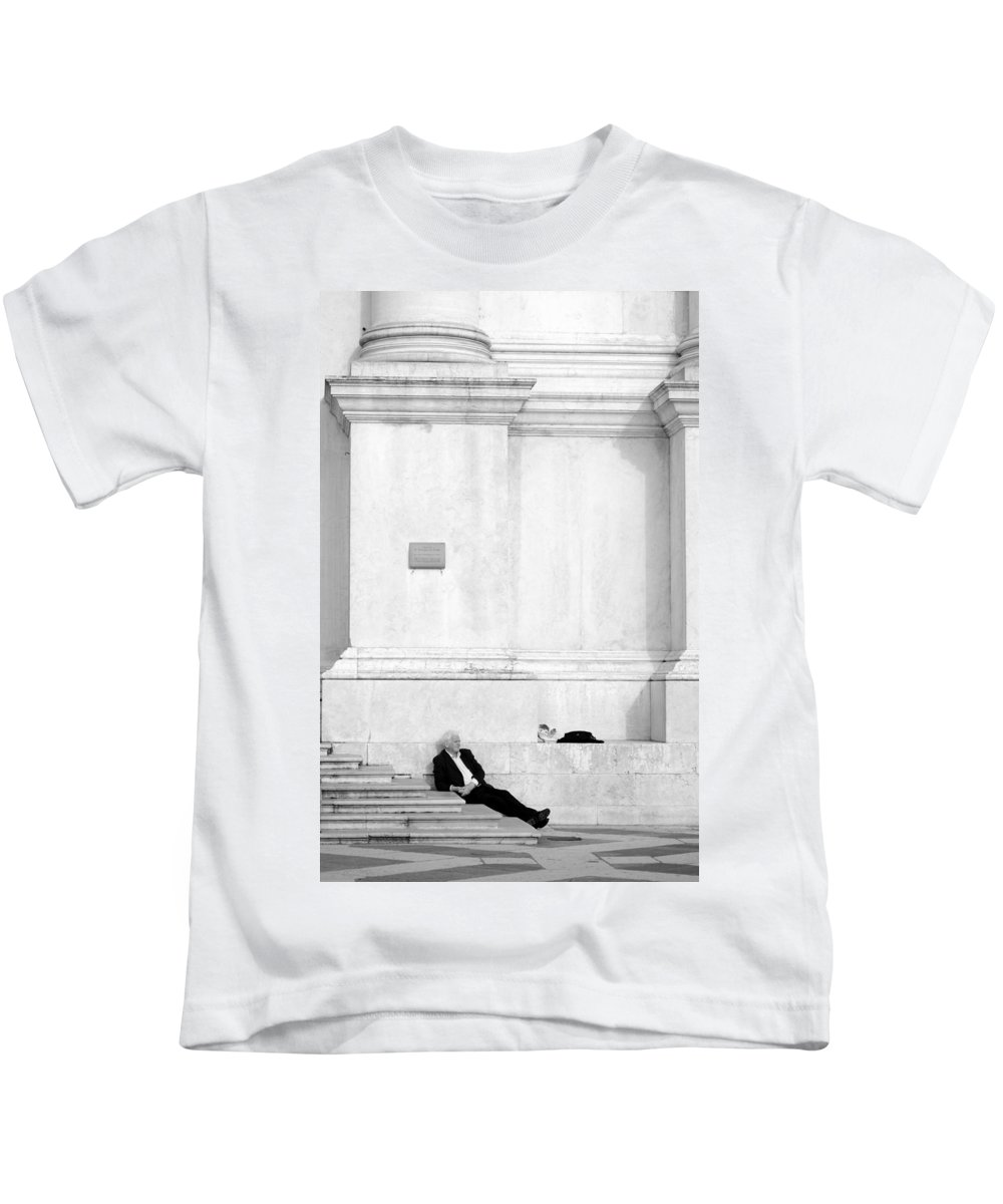 Old Kids T-Shirt featuring the photograph Venetian Rest by Valentino Visentini