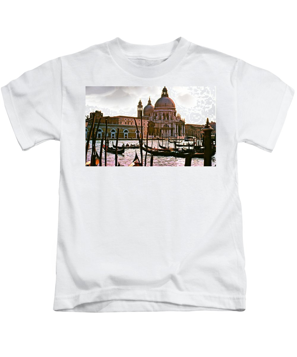 Venice Kids T-Shirt featuring the photograph Venice The Grand Canal by Ira Shander