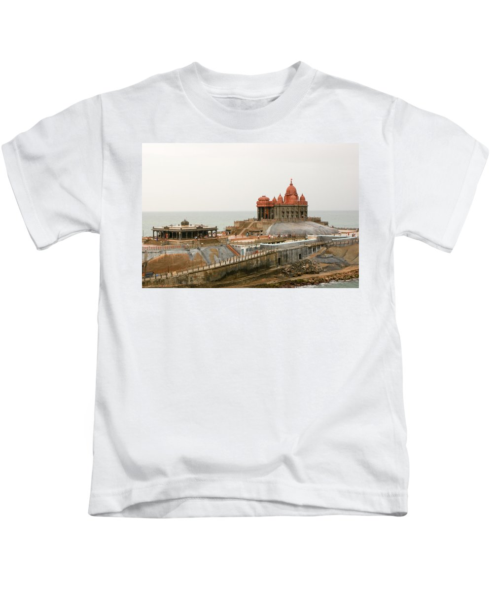 Building Kids T-Shirt featuring the photograph Vivekananda Memorial by Helix Games Photography