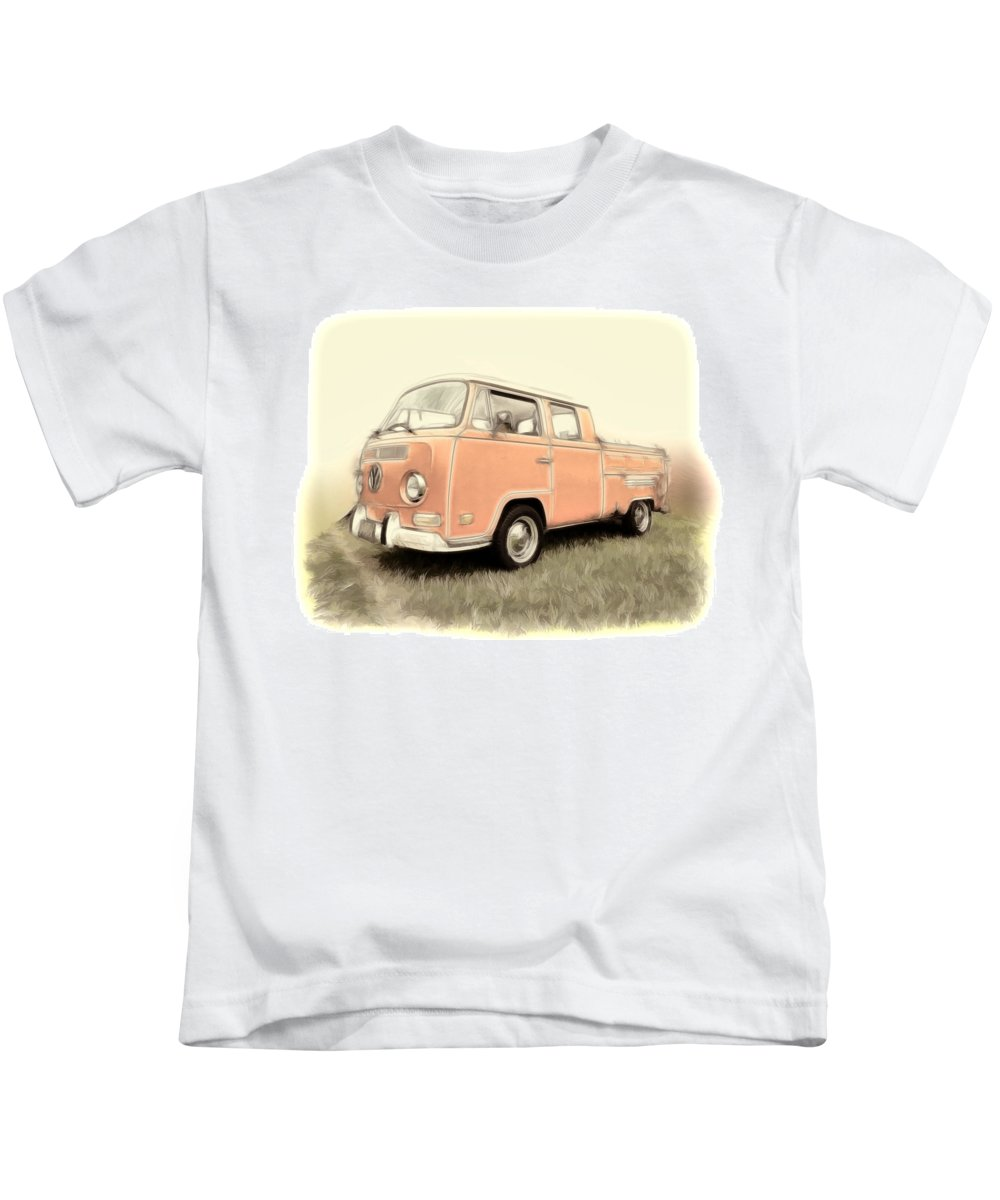 Vw Kids T-Shirt featuring the photograph Vw Pickup by Steve McKinzie