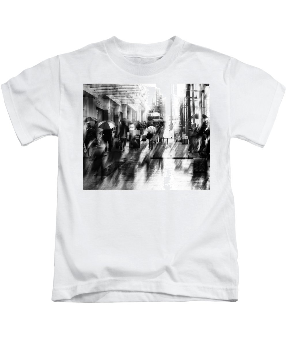 Street Photography Kids T-Shirt featuring the photograph Washing Sins by The Artist Project