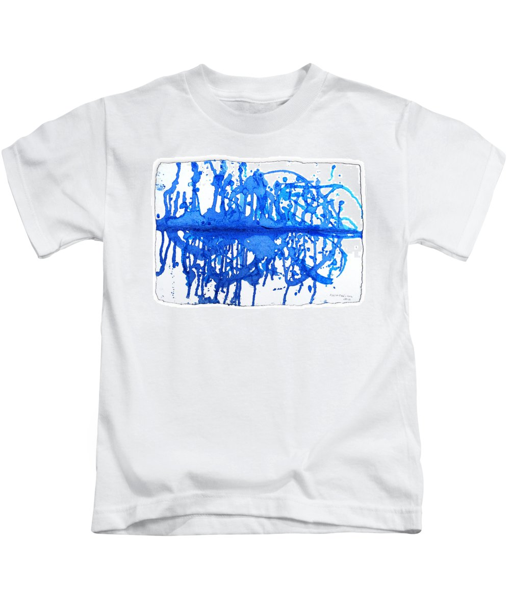 Water Variation Kids T-Shirt featuring the painting Water Variations 13 by Rozita Fogelman