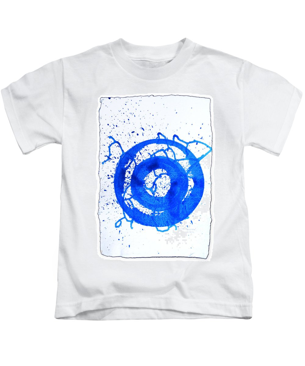 Water Variation Kids T-Shirt featuring the painting Water Variations 5 by Rozita Fogelman