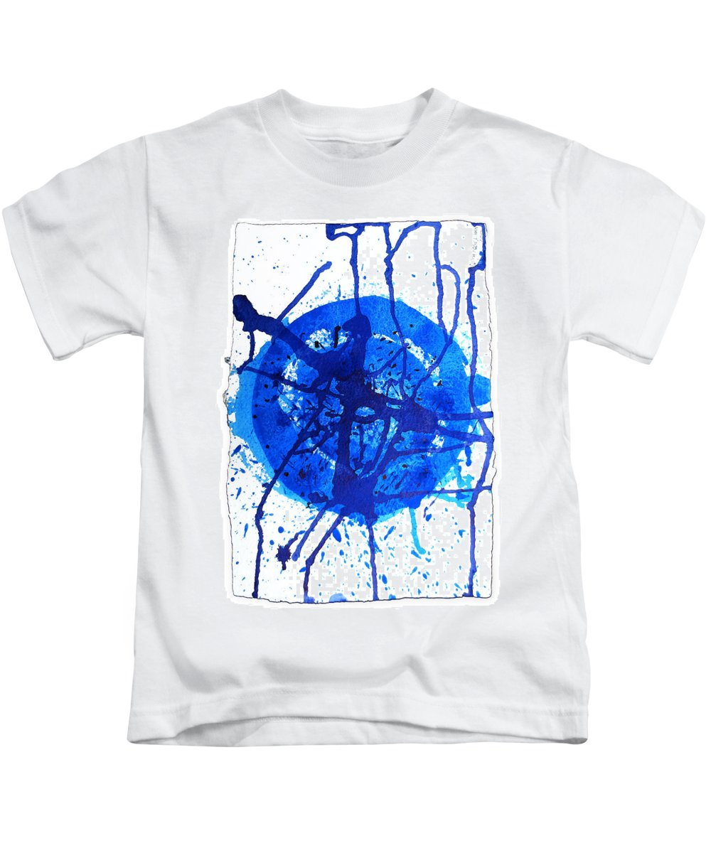 Water Variation Kids T-Shirt featuring the painting Water Variations 8 by Rozita Fogelman