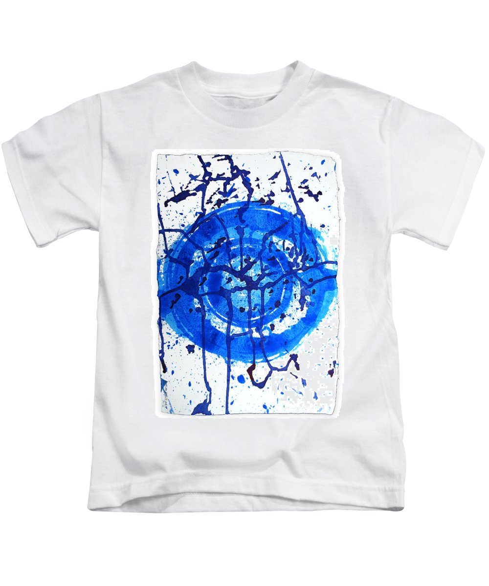 Water Variation Kids T-Shirt featuring the painting Water Variations 9 by Rozita Fogelman