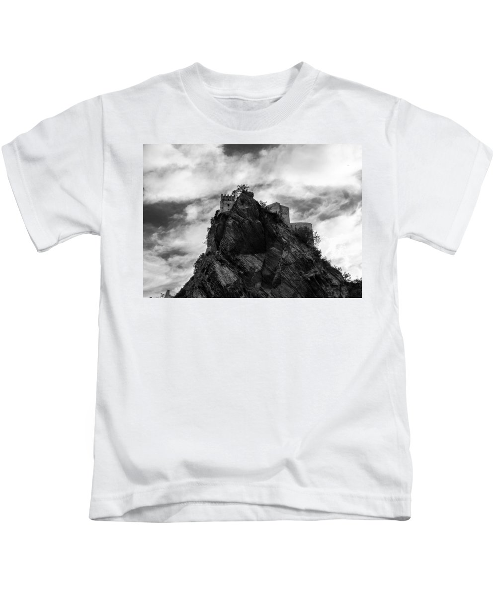 Landscape Kids T-Shirt featuring the photograph Italian Landscape - Where Dragons Fly by Andrea Mazzocchetti