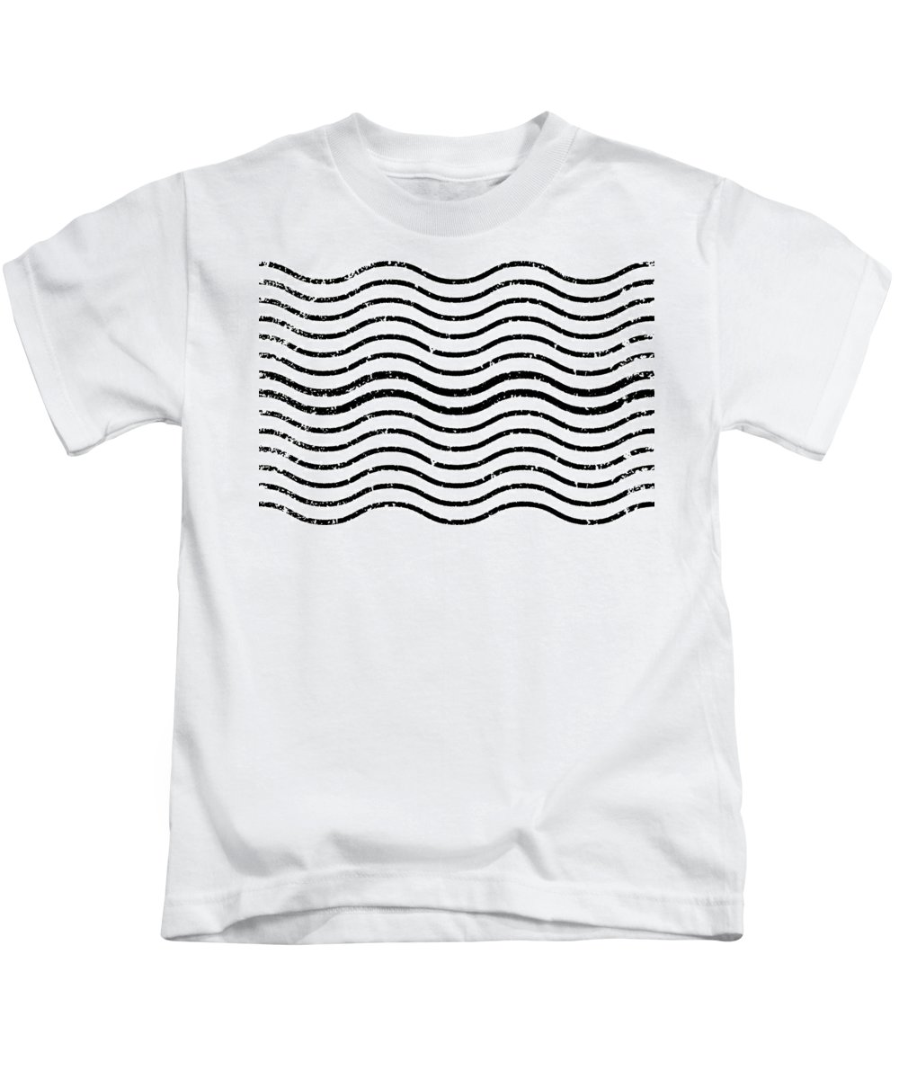 White And Black Postage Kids T-Shirt featuring the digital art White And Black Postage by Chastity Hoff