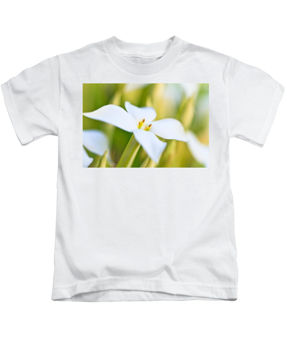 White Flower Kids T-Shirt featuring the photograph White Flower 2 by Ben Graham