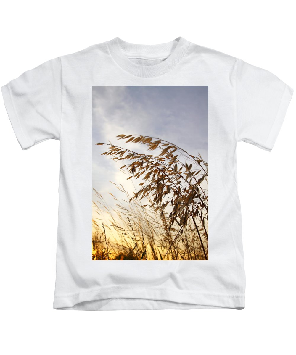 Wild Oats Kids T-Shirt featuring the photograph Wild Oats 2am-110432 by Andrew McInnes
