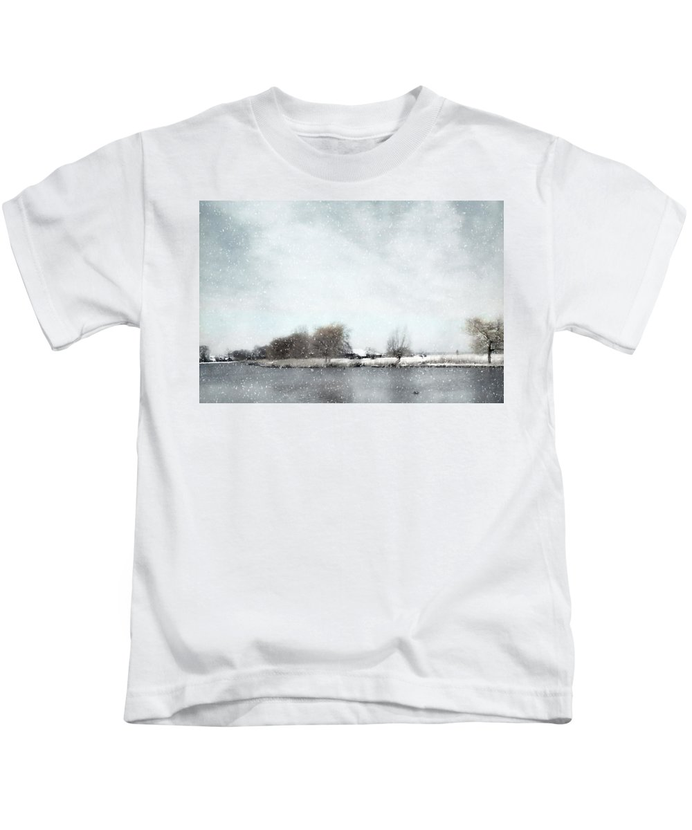 Winter Kids T-Shirt featuring the photograph Winter by Annie Snel