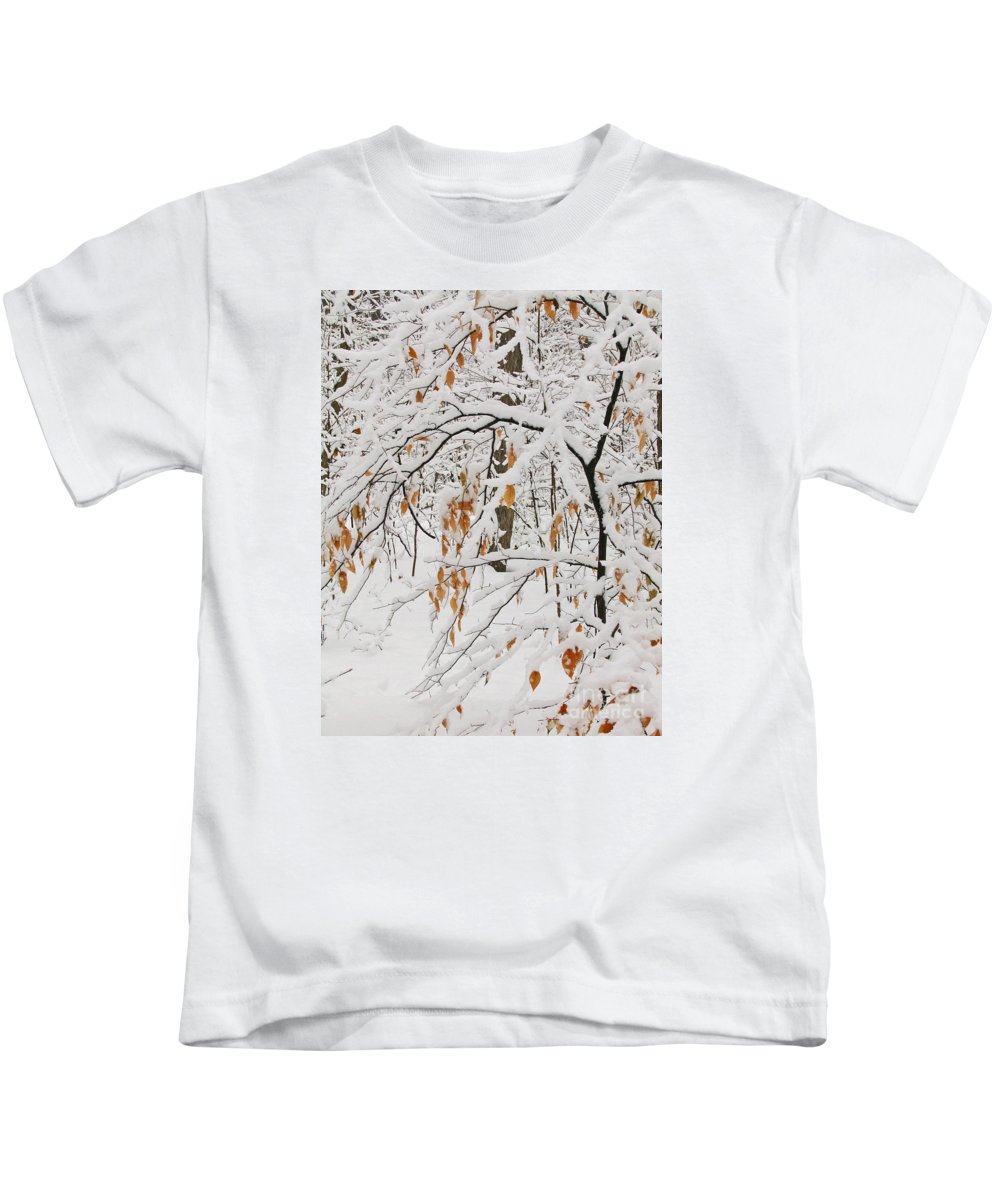 Winter Kids T-Shirt featuring the photograph Winter Branches by Ann Horn