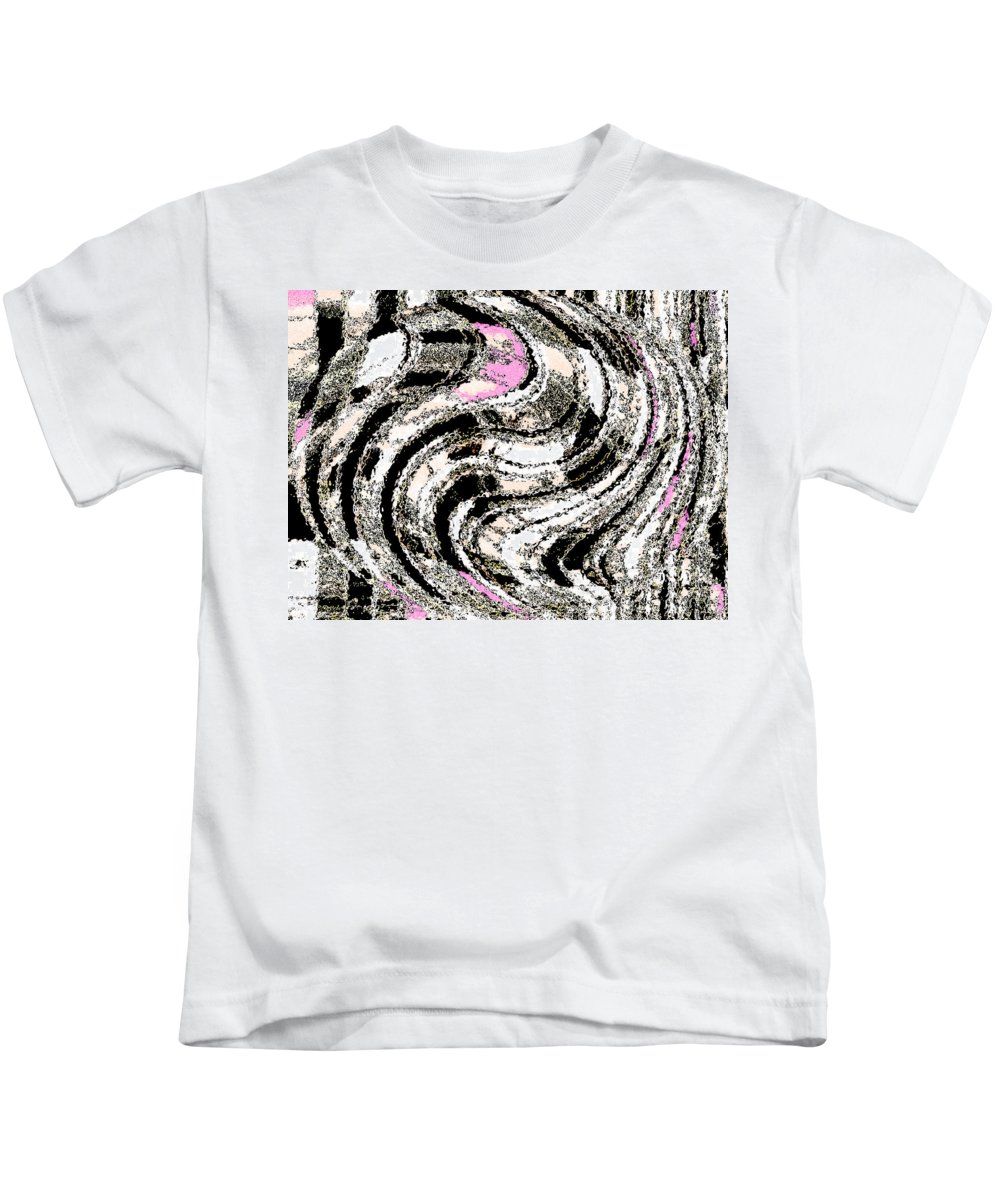 Abstract Kids T-Shirt featuring the digital art Winter Gestation Abstract by Lenore Senior