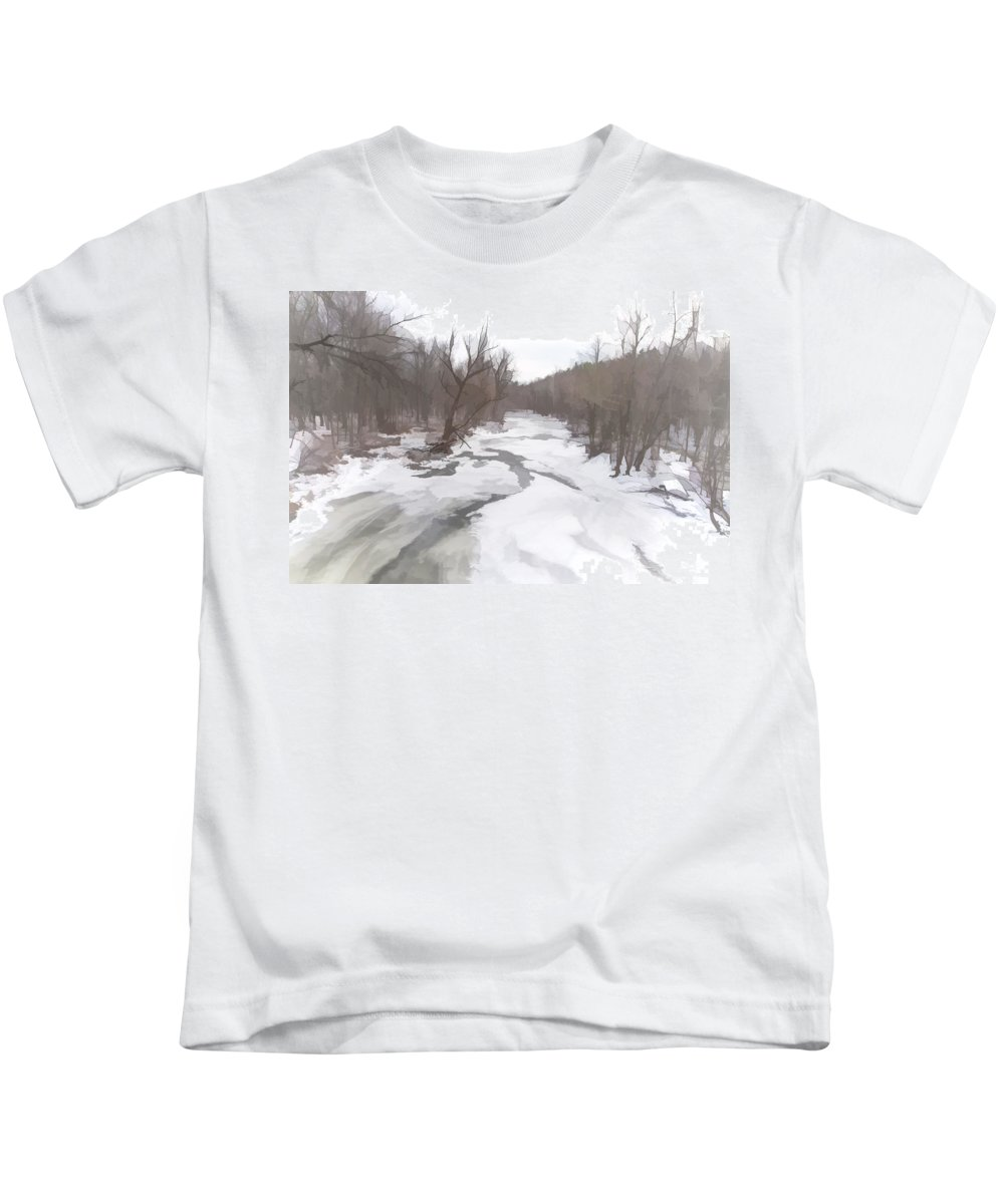 Snow Kids T-Shirt featuring the photograph Winter In The Woods by Ray Summers Photography