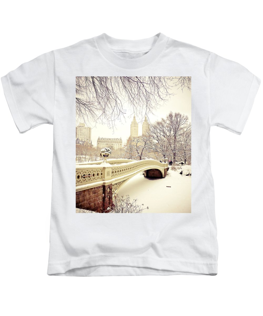 Nyc Kids T-Shirt featuring the photograph Winter - New York City - Central Park by Vivienne Gucwa